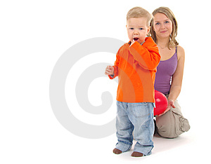 Mother playing with her son Free Stock Image