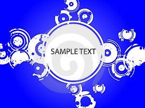 Blue Splatter Copyspace Stock Image - Image: 2896421