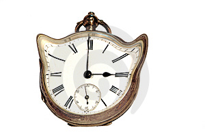 Old Distorted Clock Stock Images