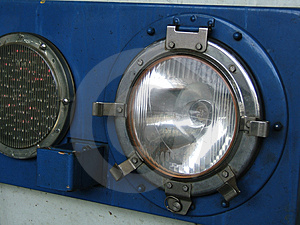 Retro Headlamps Stock Photo - Image: 292520