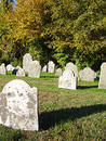 Autumn Graveyard Royalty Free Stock Photos
