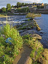 River Weir 1 Stock Photo