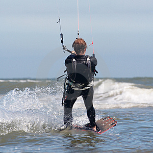 Kite Boarder In Action Royalty Free Stock Photo - Image: 2903065