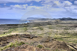 Plateau On Easter Island Royalty Free Stock Image - Image: 2903826