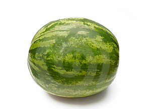 Watermelon on White Stock Image