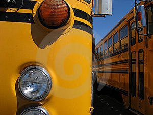 Details of a school bus Stock Photos