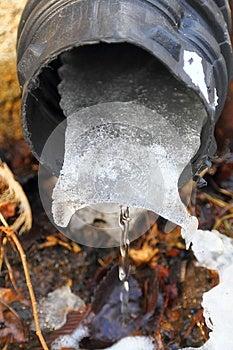 Melting Snow Ice Stock Photo - Image: 29062140