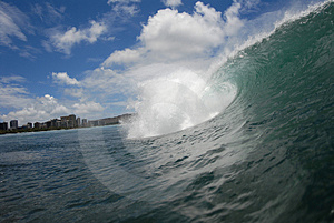 A barreling wave Stock Images