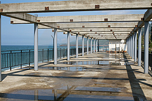 Beach Structure On Seacoast Royalty Free Stock Photo - Image: 2915645