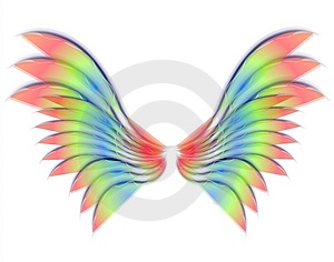 Isolated Angel or Bird Wings Royalty Free Stock Photos