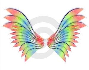 Ali isolate dell'uccello o di angelo Fotografie Stock Libere da Diritti