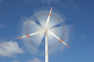 Motion effect on wind mill Stock Photography