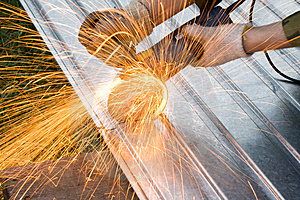 Metal Cutting Sparks Royalty Free Stock Images - Image: 2931639