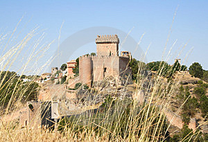 Artistic Alarcón Castle, Spain Stock Photos - Image: 2934613