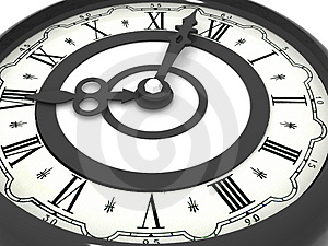 Clock. eight o'clock Royalty Free Stock Photography
