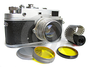 Vintage Camera With Photofilte Stock Images - Image: 2935734