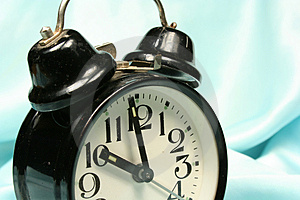 Alarm-clock On Blue Background Stock Photos - Image: 2938463