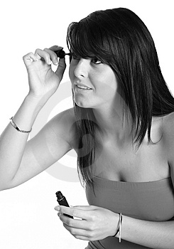 Putting On Makeup Stock Image - Image: 2943031