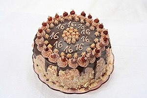 Anniversary's Chocolate Cake Royalty Free Stock Photo - Image: 2945525