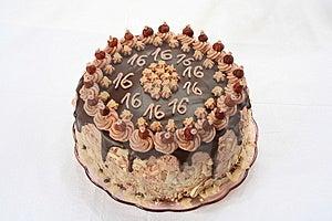 Anniversary's Chocolate Cake Royalty Free Stock Photo - Image: 2945525