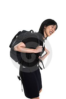 Carrying Back-pack Royalty Free Stock Image - Image: 2955376