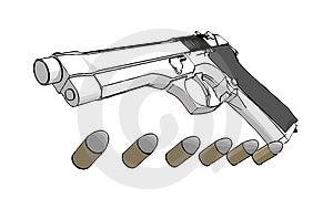 3D Gun Royalty Free Stock Image - Image: 2955486