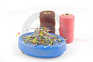 Sewing Material (focus Pins) Stock Photo - Image: 2958380
