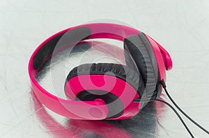 Pink Headphone Stock Photo - Image: 29587730