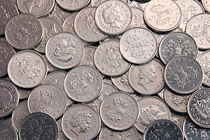 Five Pence Coins Royalty Free Stock Photo - Image: 2963085