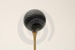 Bola De Golfe Preta Fotografia de Stock - Imagem: 2963542