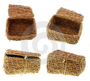 Hand-made Straw  Basket Stock Images - Image: 2964824