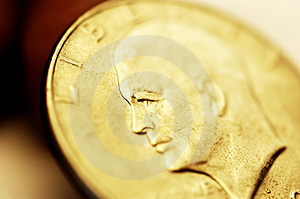 Gold dollar Royalty Free Stock Photo