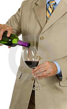Man In Suit Pouring Wine Royalty Free Stock Photos - Image: 2968618