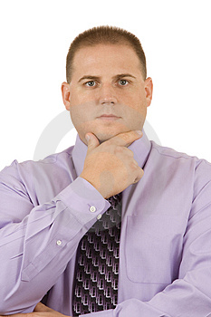 Thoughtful Businessman Royalty Free Stock Photo - Image: 2968725