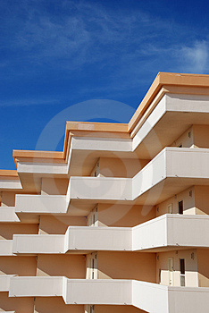 Stucco Builiding With Blue Sky Stock Photo - Image: 2972450