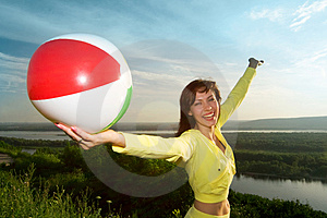 Girl With Ball Stock Photo - Image: 2972790