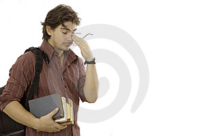 Male student with books Stock Photography
