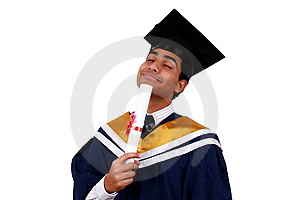 Graduation with clipping path Royalty Free Stock Photography