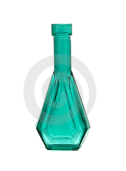 Old Green Miniature Bottle Royalty Free Stock Photo - Image: 2979985
