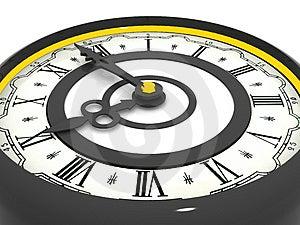 Orologio. Nove in punto Fotografia Stock Libera da Diritti