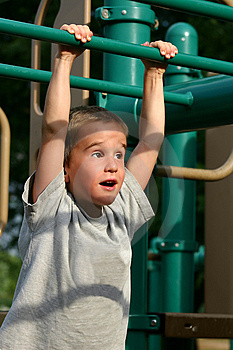 Boy at the Playground Stock Photos