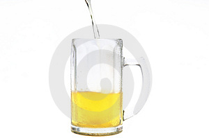 Beer Filling Into Cold Mug Stock Photography - Image: 2985732