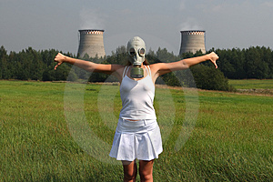 Girl In A Gas Mask Stock Photo - Image: 2989400
