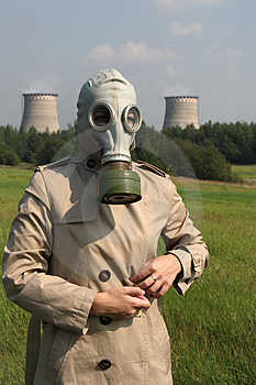 Girl In A Gas Mask Royalty Free Stock Photos - Image: 2989568