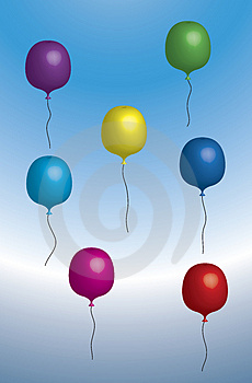 Floating Balloons Stock Photography - Image: 2998002