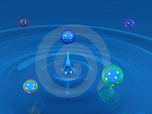 Colorful Water Drops Royalty Free Stock Photography - Image: 2999287