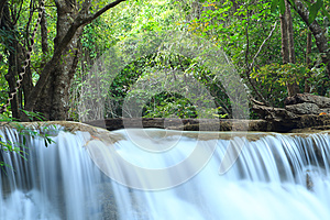 Deep Forest Waterfall In Kanchanaburi, Thailand Royalty Free Stock Image - Image: 29981096