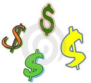 Dollar Symbols Royalty Free Stock Image - Image: 30406