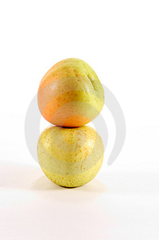 Apples Stacked Stock Photography