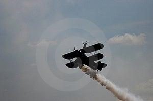 Aerobatic Plane II Royalty Free Stock Photography
